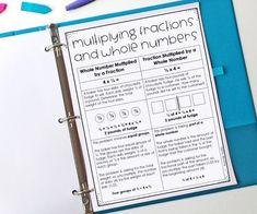 This post shares information about the two main types of situations that involve multiplying fractions and whole numbers and why teaching both types conceptually will help students. Free printable and example problem for each type included. Algebra Interactive Notebooks, Math Notebooks, Dividing Fractions, Multiplying Fractions, Teaching Multiplication, Maths, Number Anchor Charts, Math Task Cards, 5th Grade Math