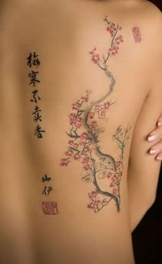 Cherry-tree tattoo #