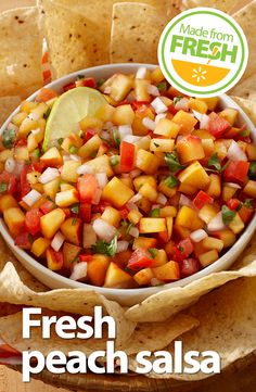 Here's a twist on traditional salsa you can serve at your next get-together. Just by adding fresh juicy peaches, you get a mouthwatering salsa that everyone will love.