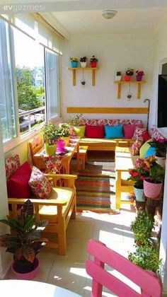 These are your best balkon design in the world Apartment Balcony Decorating, Apartment Balconies, Interior Decorating, Decorating Ideas, Living Room Decor, Bedroom Decor, Wall Decor, Bedroom Balcony, Living Rooms