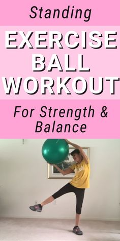 Stability Ball Exercises, Mat Exercises, Balance Exercises, Senior Fitness, Yoga Fitness, Senior Workout, Free Fitness, Treadmill Workouts, At Home Workouts