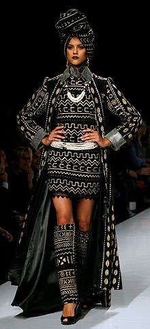 Mudcloth inspiration ||  African Haute Couture;  African designers make haute couture debut in Rome ~. designer Kofi Ansah from Ghana presents the spring/summer 2009 collection