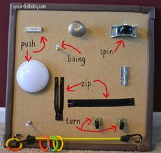 Baby activity board for fingers