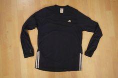 Long Sleeve Adidas Warm-up Shirt Formotion size M Navy Blue Three Stripe | eBay
