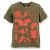 Your sporty little guy will love this football theme tee, filled with fun contrasting graphics.