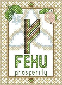 Rune Fehu (prosperity) cross stitch pattern » Happy Stitch