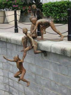 Chong Fah Cheong - The Riverside Sculptor - Singapura Statues, Street Art, Art Public, Instalation Art, 3d Art, Art Moderne, Outdoor Art, Art Design, Art Plastique
