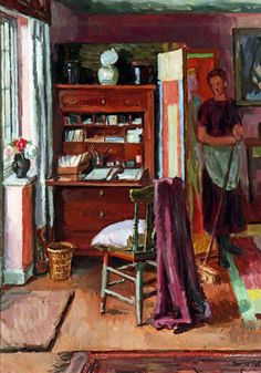 Interior with a Housemaid by Vanessa Bell  1939