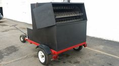 BBQ pit | bbq smoker | Charcoal Rotisserie Smoker on Trailer