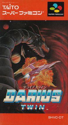 Darius Twin - Super Famicom front sleeve