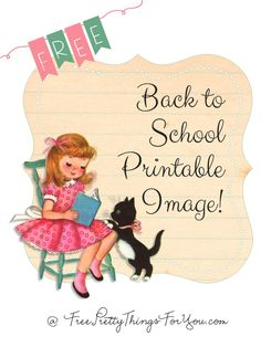 Images: Back to School Tags - Free Pretty Things For You