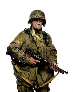 Jim Martin, dressed as he was 70 years ago, will be parachuting into Normandy tomorrow at age 93. - Imgur