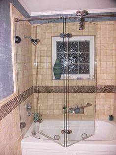 Vigo Folding 3 Panel Bath Tub Door By Vigo Shower Doors
