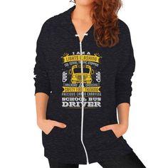 I AM A BusDrivers Zip Hoodie (on woman)