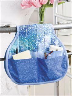 Wheelchair or hospital bed saddlebag pocket holder