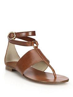 Michael Kors Collection - Candice Vachetta Leather Sandals