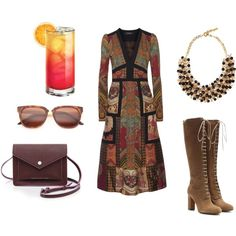 Modern Folk Ambiance by rosaregaler on Polyvore featuring Etro, Marc by Marc Jacobs, RetroSuperFuture, modern, vintage, folk, outfitideas and fashionset