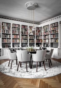 Dining Room Decor ideas for decorating living room dining room combo Home Library Design, House Design, Home Library Decor, Cozy Library, Study Interior Design, Library Table, Dream Library, Library Books, Interior Decorating