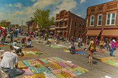 "Chalk the Walk is the first weekend of May each year.  It is listed as ""10 of the most charming towns in Iowa - day trips""  Mount Vernon, Iowa!"