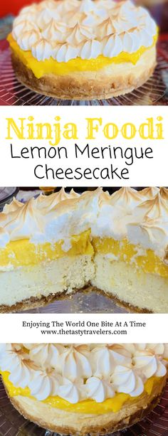 No-Bake Lemon Cheesecake! 60 Lemon Cheesecake Inspirational Pictures and Lemon Cheesecake Recipe No-Bake Lemon Cheesecake! A Delicious, Sweet and Easy No-Bake Lemon Cheesecake! Instant Pot Cheesecake Recipe, Lemon Cheesecake Recipes, Lemon Meringue Cheesecake Factory Recipe, Mini Lemon Meringue Pies, Savoury Cake, Dessert Recipes, Cupcake Recipes, Tasty, Amigurumi