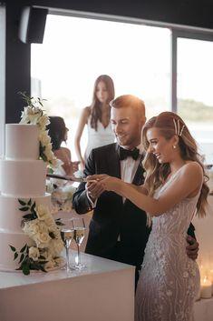 Jess and Julian in Carousel, Melbourne, Australia. Albert Park, Melbourne Wedding, Wedding Cake Inspiration, Beautiful Wedding Cakes, Most Beautiful, Groom, Wedding Photography, Melbourne Australia, Bride