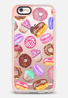 Yummy Watercolor Donuts Cookies Cupcakes and Muffin Dessert- Transparent iPhone 6s case by BlackStrawberry | Casetify