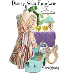 Disney Soda Fountain, created by lalakay on Polyvore #disney