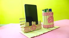 DIY Desk Organizers - DIY For The Office | Make Awesome Pen & Mobile Stand