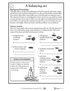 Worksheets 8th Grade Health Printable Worksheets health vitamins and minerals teaching kids on pinterest each of these meals is missing something in this science worksheet your child learns