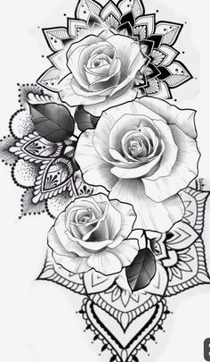 But with sunflowers Flower Tattoo Designs Malika Gislason . - But with sunflowers Flower tattoo designs malika gislason - Tattoo Sleeve Designs, Flower Tattoo Designs, Flower Tattoo Drawings, 3 Roses Tattoo, Tattoo Sleeves, Mandala Flower Tattoos, Rose Drawing Tattoo, Tattoos With Flowers, Flower Tattoo For Men