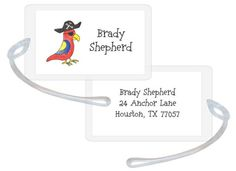 Pirate Parrot ID Luggage Tags