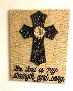 16x24 canvas with hymnal pages