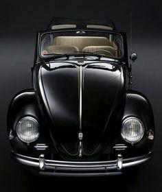 Black VW Beetle drop top