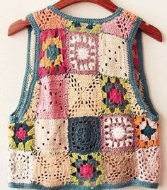 We continue to share our latest knitting shares without slowing down. In this article you are waiting for the summer crochet dress patterns. Poncho Au Crochet, Crochet Vest Pattern, Crochet Motifs, Crochet Jacket, Crochet Blouse, Crochet Granny, Free Crochet, Knit Crochet, Knitting Patterns