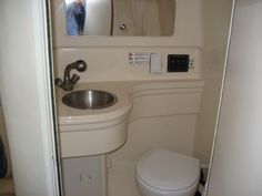 tiny house designers could learn a lot about compact design from boat builders, especially when it comes to the head / bathroom...