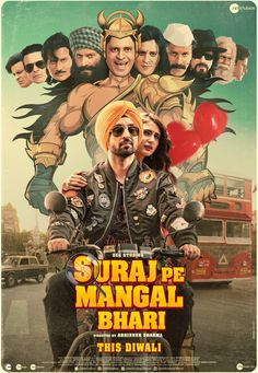 TRAILER DROPS TODAY + NEW POSTER... Trailer of #SurajPeMangalBhari - starring #ManojBajpayee, #DiljitDosanjh and #FatimaSanaShaikh - will be launched today... Directed by Abhishek Sharma... Produced by Zee Studios... #Diwali #Diwali2020 release.