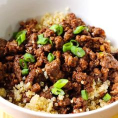 15-Minute Korean Beef and Quinoa Bowl: really good and super easy to make!
