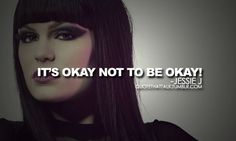It's okay not to be okay! Sometimes it's hard to follow your heart. But tears don't mean you're losing, everybody's bruising. Just be true to who you are. <3