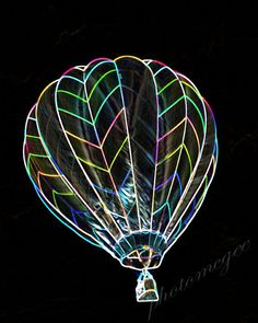 Neon Lights -  Hot Air Balloon