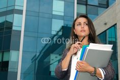 Photo: Business woman thoughtfully looks aside Business Women, Selfie, Stock Photos, Woman, Image, Women, Selfies, Business Professional Women