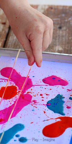 Fizzing Rubber Band Snap Painting