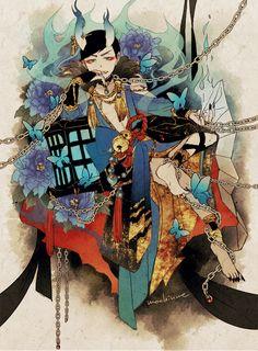 Anime Kunst, Anime Art, Osomatsu San Doujinshi, Anime Poses Reference, Ichimatsu, Drawing Poses, Homestuck, Character Design, Fan Art