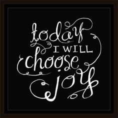 Choose Joy Hand Drawn Doodle Inspirational Typography Black & White, Framed Canvas Art by Pied Piper Creative, Brown