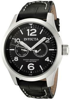 Invicta Watch 0764 Men's Invicta II Black Dial Black Calf Leather. List Price: $495.00 Price: $45.00 You Save: $450.00 (91%)