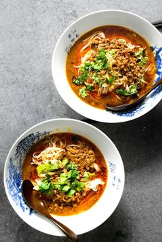 You can make a tasty bowl of Face Numbing Sichuan Dan Dan Noodle Soup with this recipe.