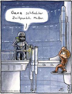 schlechter Zeitpunkt... www.och-noe.de - Cartoons