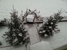 Silver Village My House Gate Snow in Ankara