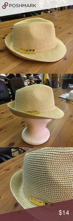 New metalic fedora with studs metalic fedora. 2 inch brim.One size fits most women(head curcumference is about 57cm the hatter Accessories Hats
