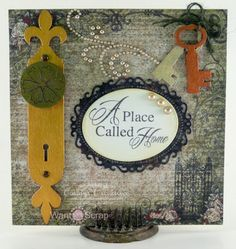 Candy Slabaugh creates a New Home Card featuring #Want2Scrap #HeartfeltCreations #ArtGlitter #DecoArt