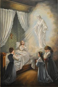 Saint Thérèse's vision of Our Lady of the Smile
